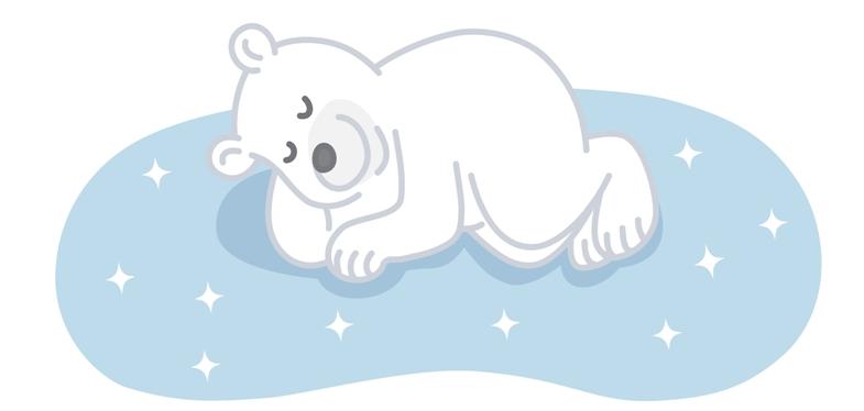 冷却ジェルパッド 敷くだけで全身ひんやり快眠!すやすや寝ている画像