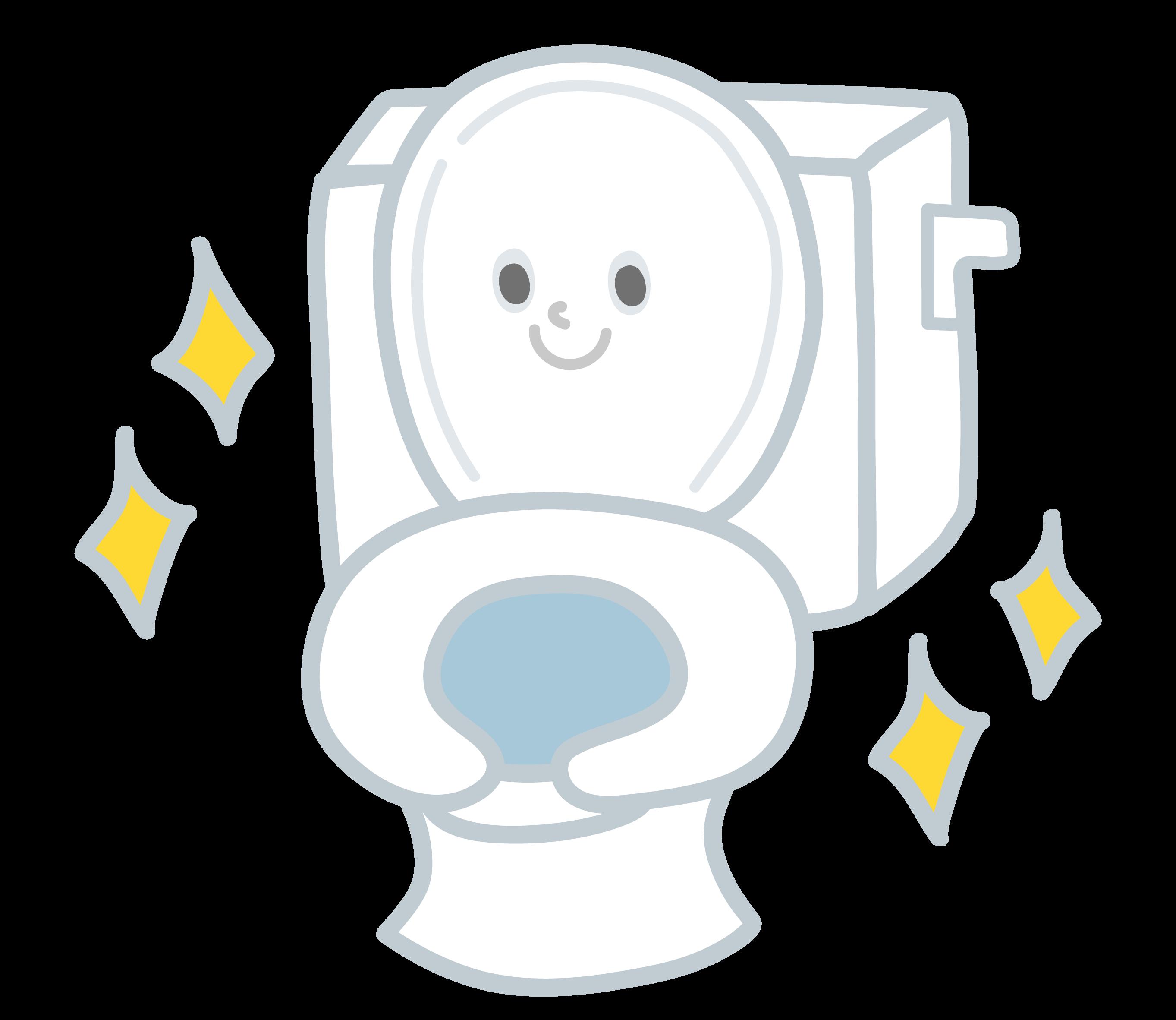 トイレの暑さ対策 トイレをきれいにそうじしておく イメージ画像