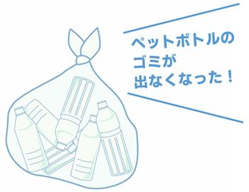 ペットボトルのゴミ