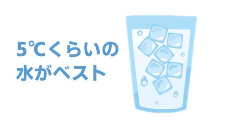 炭酸水をつくる水の温度